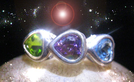 HAUNTED 3 HEARTS RING CUT ALL LOVE & RELATIONS INTEREFERENCE OOAK SECRET MAGICK  - $9,117.77