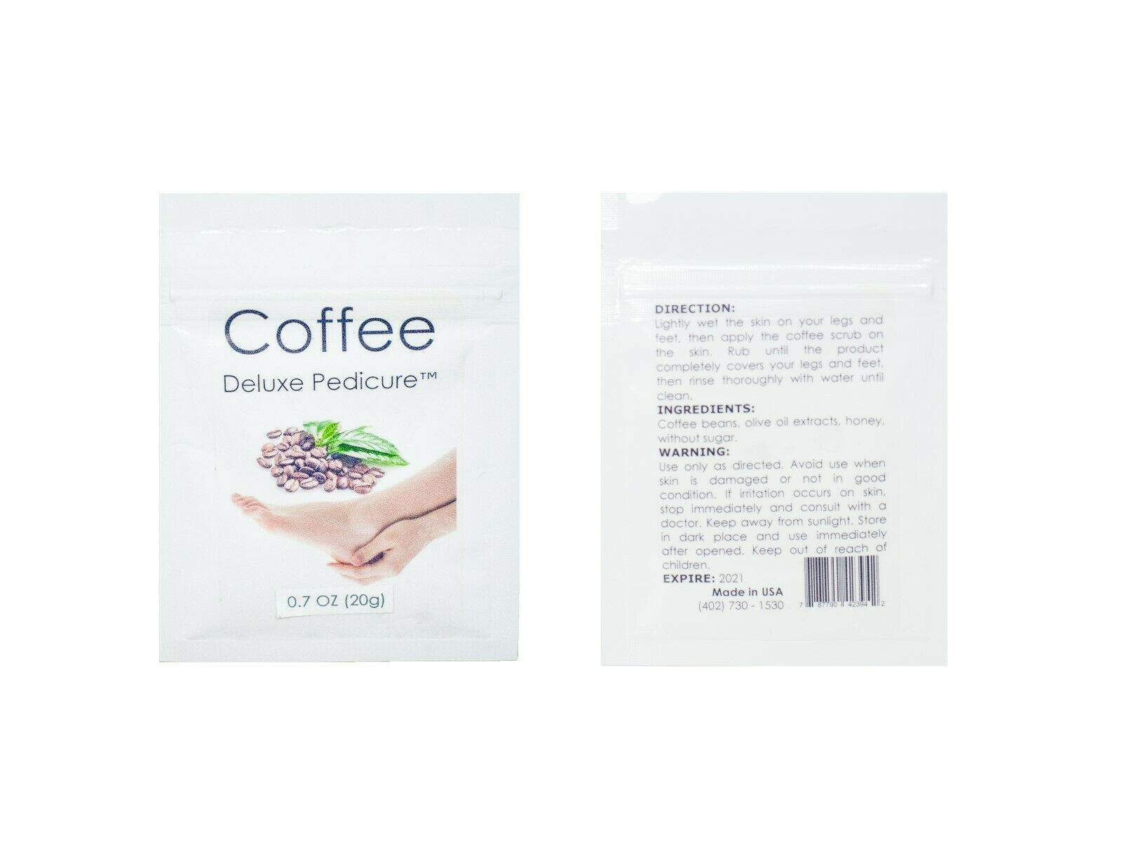Coffee Deluxe Pedicure 1 pack (0.7 oz - 20g)