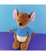 "Disney Store Exclusive Winnie the Pooh Roo Plush Kangaroo 10"" Blue Shirt... - $26.73"