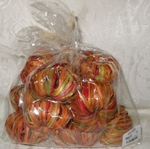 Pier 1 12 Pc Rattan Pumpkins Bowl Filler Table Scatter Decorations NWT - £9.32 GBP