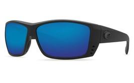 Nuevo Costa Del Mar Gato Cayo Blackout Marco / 580 Azul Polarizadas Espejo - $158.39