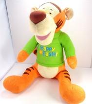 Easter DISNEY Winnie The Pooh Easter TIGGER Plush Stuffed Green Shirt La... - $19.79
