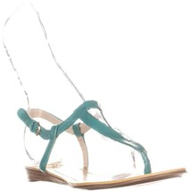 Nine West Weightless Flat Ankle Sandals, Turquoise Multi, 6.5 US - $36.57