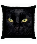 Throw pillow case cover cartoons black cat - $369,65 MXN