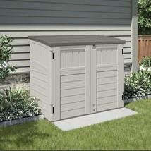 Outdoor Storage Shed Bike Garbage Can Toys Pool Tools Horizontal Utility... - $351.16