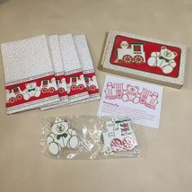 Vintage 1983 Avon Holiday Cookie Kit: Teddy Bear & Train Cookie Cutters ... - $4.94