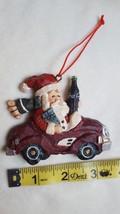 "3"" Christmas xmas Santa in Car with Coca Cola Ornament • The Coca-Cola Company - $10.84"