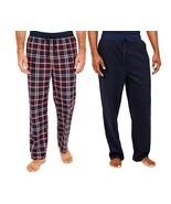Nautica men s sueded fleece pajama pants 2 pack red 1 thumbtall