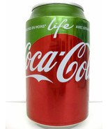 COCA COLA LIFE GREEN Stevia Collectible French Can - $7.91