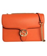 NEW Gucci Interlocking G Red Leather Large Chain Crossbody Shoulder Bag ... - $879.25