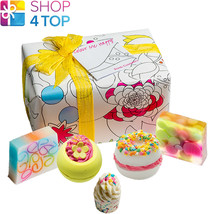 Colour Me Happy Gift Pack Bomb Cosmetics Fruity Bergamot Handmade Natural New - $17.86