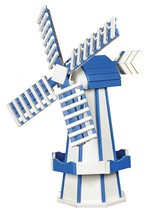 6½ FOOT JUMBO POLY WINDMILL - White & Blue Working Garden Weathervane Am... - $695.60 CAD