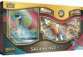 Dragon Majesty Salamence GX Collection Box 5 Booster Packs + Promo Pokemon TCG - $39.99
