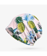 Brand Ponytail Beanie Pineapple Leaf Pattern Hats For Women  Skullies Be... - $11.44