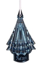 Baccarat Crystal Blue Christmas Tree Ornament 2016 Annual Gift New In Box - $87.00