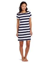 Nautica SHESLS Boat Neck Knit Sleepshirt 301470 J Navy / White Stripe XS... - $13.05
