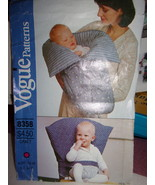 Vogue 8358 Infants Chair Seat & Bunting Sewing Pattern Uncut - $1.99