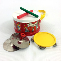 Fisher Price Marching Band Drum Set With Tambourine & Cymbals 921 Vintag... - $23.97