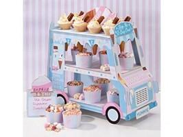 Talking Tables Street Stalls Présentoir en Carton Forme de Camionnette...  - £18.98 GBP