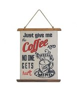 Zings & Thingz 57074197 Coffee Linen Wall Decor, Cream - $23.52