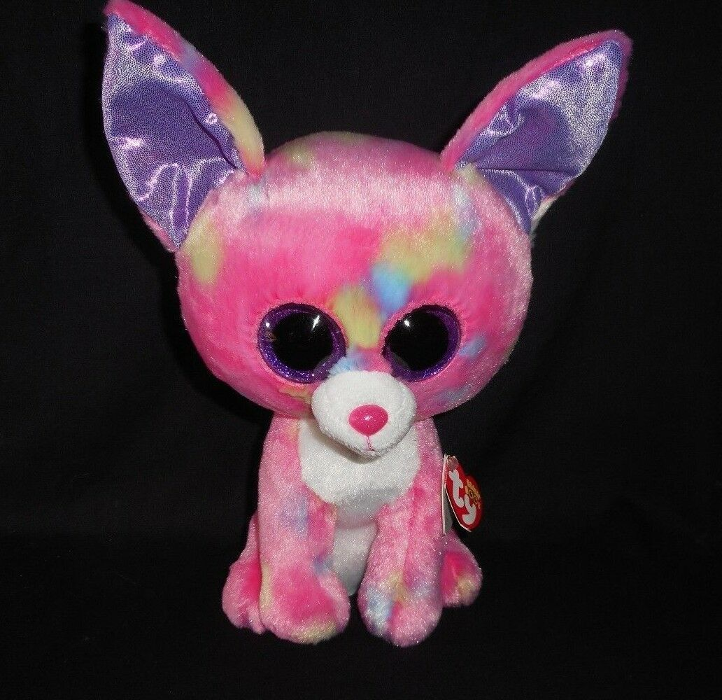 "9"" TY BEANIE BOOS CANCUN PINK CHIHUAHUA PUPPY DOG STUFFED ANIMAL PLUSH TOY W TAG"