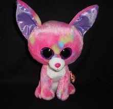 "9"" TY BEANIE BOOS CANCUN PINK CHIHUAHUA PUPPY DOG STUFFED ANIMAL PLUSH T... - $25.76"