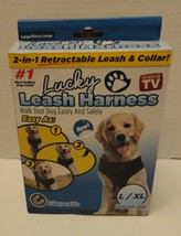 2 in 1 Dog L / XL Retractable Leash Harness Magnetic Collar 36-80 Lbs. Walk Easy - $8.45