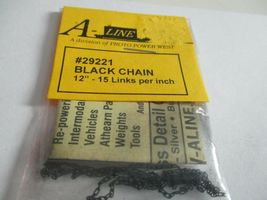 """A-Line #29221 Black Chain 12"""" - 15 Links per inch image 3"""