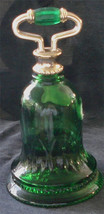 Green Glass Avon Collectible Decanter½ Full Roses Roses GREAT VINTAGE AVON - $16.82