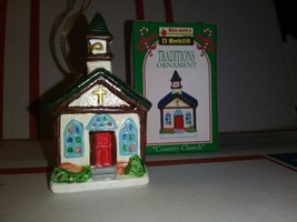 1994 Kwik Fill Country Church Traditions Christmas Ornament  Ceramic Gas... - $4.80