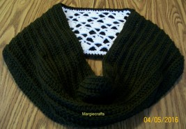 Crochet Winter Scarf, Accessories, Reversible, Adult Scarf, Brown, Antiq... - $50.00