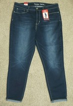Signature by Levi Strauss High Rise Ankle Skinny Cuffed Blue Jeans Size 16  - $21.16