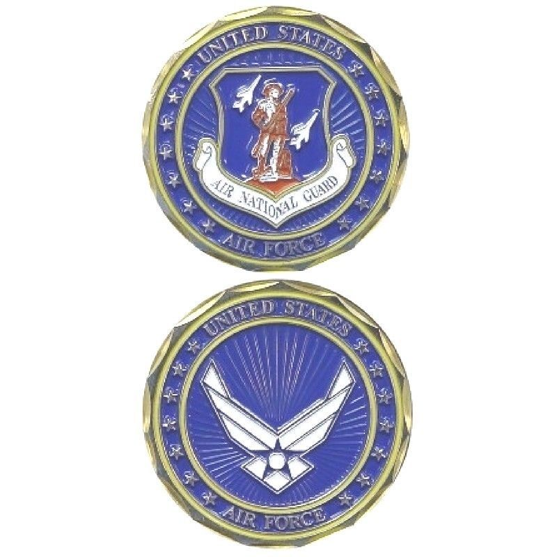 AIR FORCE USAF  AIR NATIONAL GUARD CREST CHALLENGE COIN