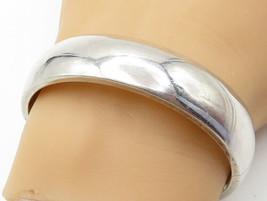 925 Sterling Silver - Shiny Smooth Minimalist Bangle Bracelet - B6154 - $79.85