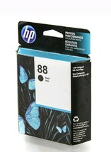 New OEM Sealed HP 88 Black Ink Cartridge C9385AN for HP Officejet Pro - $7.66