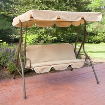 2 Person Adjustable Tilt Metal Canopy Porch Swing Yard Deck Patio Lawn G... - $99.00