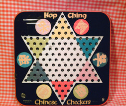 VINTAGE Metal HOP CHING Chinese Checkers Game Board Pressman Toy Corp US... - $476,20 MXN