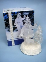 Heritage Mint Santa With Deer MIB - Clear/Frosted LIghted Sculpture - $23.11