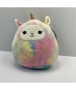"Squishmallows 8"" Tie Dyed Llamacorn. Lucinda Plush Toy Unicorn - $18.70"