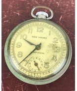 Vintage New Heaven Compensated Pocket Watch/parts - $18.70