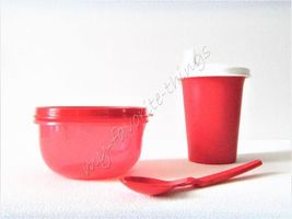 Tupperware Children's Sipper Cup, Snack Cup & Hang-on Spoon Red - $22.00