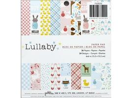"""Pebbles-36 Pc 6""""x6"""" Paper Pad-Lullaby- #733522"""