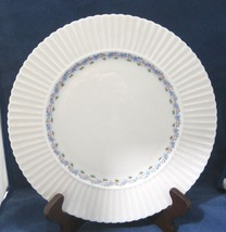 "Priscilla by Lenox Dinner Plate 10 3/4"" Temple Shape Blue Floral Pink Line - $18.32"