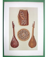 MUSICAL INSTRUMENTS Cetera Type of Guitar - 1888 SUPERB COLOR Litho Print - $26.01