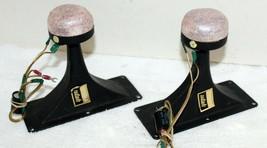 """Vintage Pair Utah 7"""" x 3"""" Metal Exponential Horn Speaker Tweeters Allied... - $89.99"""