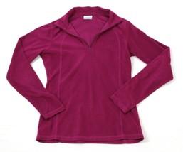Columbia Fleece 1/4 Zip Polo Pull Over Womens S Purple Athleisure Hiking... - $14.03