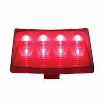 United Pacific 37204B 8 LED Harley Fender Tip Light - Red LED/Red Lens (Bulk) - $28.89