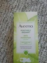 Brand new Aveeno Positively Radiant Skin Daily Moisturizer Sunscreen 15 4oz image 2