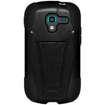 Amzer Double Layer Hybrid Case with Kickstand for Samsung Galaxy Exhibit - Black - $9.85