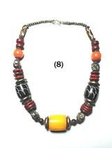 Necklace Stone Ethnic Tribal Tibetan Banjara Pendant India Jewelry Resin... - $17.39